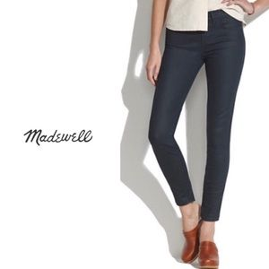 NWT Madewell Coated Denim Lakestorm Wash Jeans -27